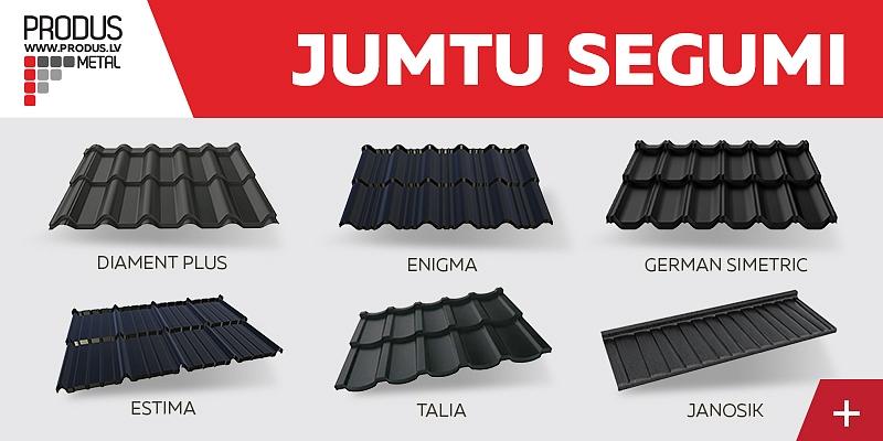 Modular tile profile, Tile profile, Tile profile, Steel shingles, Trapeze profiles, Rolled profile, Classic profile