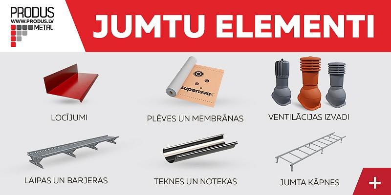 Roof stairs, brackets, bridges, snow barriers, specelements, folds, films, membranes, ventilation outlets, windows, tools